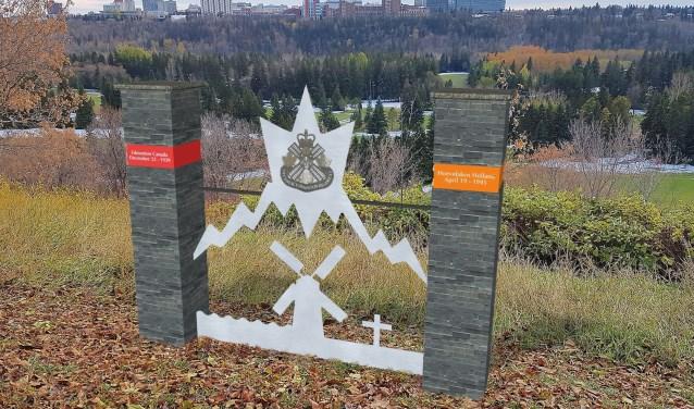 Artist impression van het WW2 Monument Edmonton – Hoevelaken.