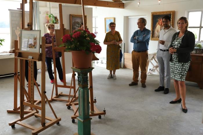 burgemeester Petra Doornenbal opent het kunstroute weekend