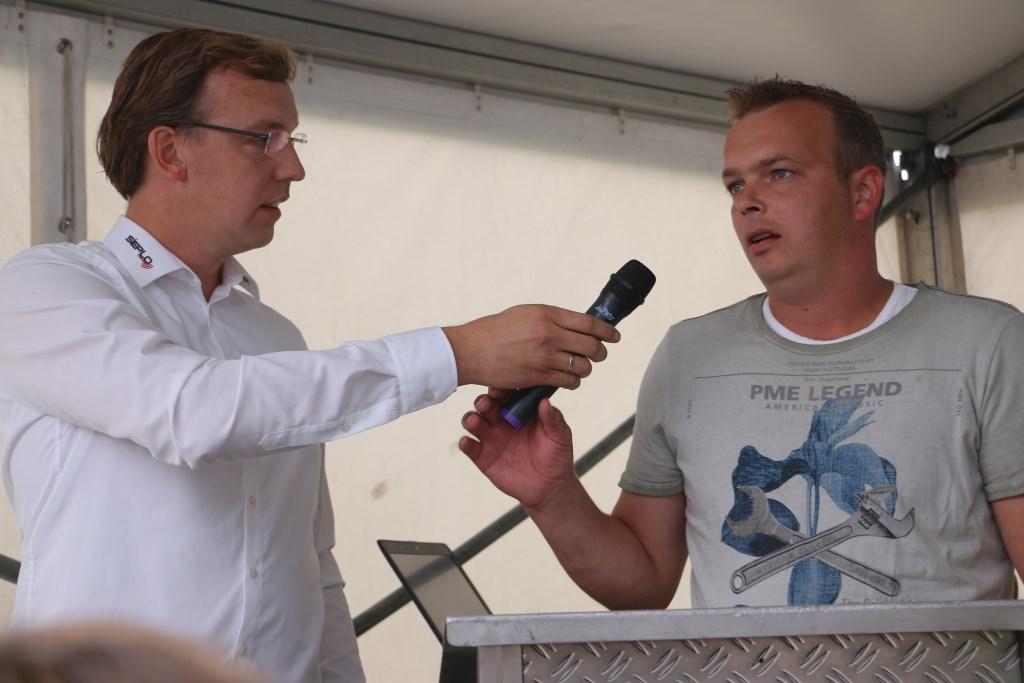 Directeur Jan Siebelink van Sieplo en boer Gerard van Deelen. Freek Wolff © BDU Media