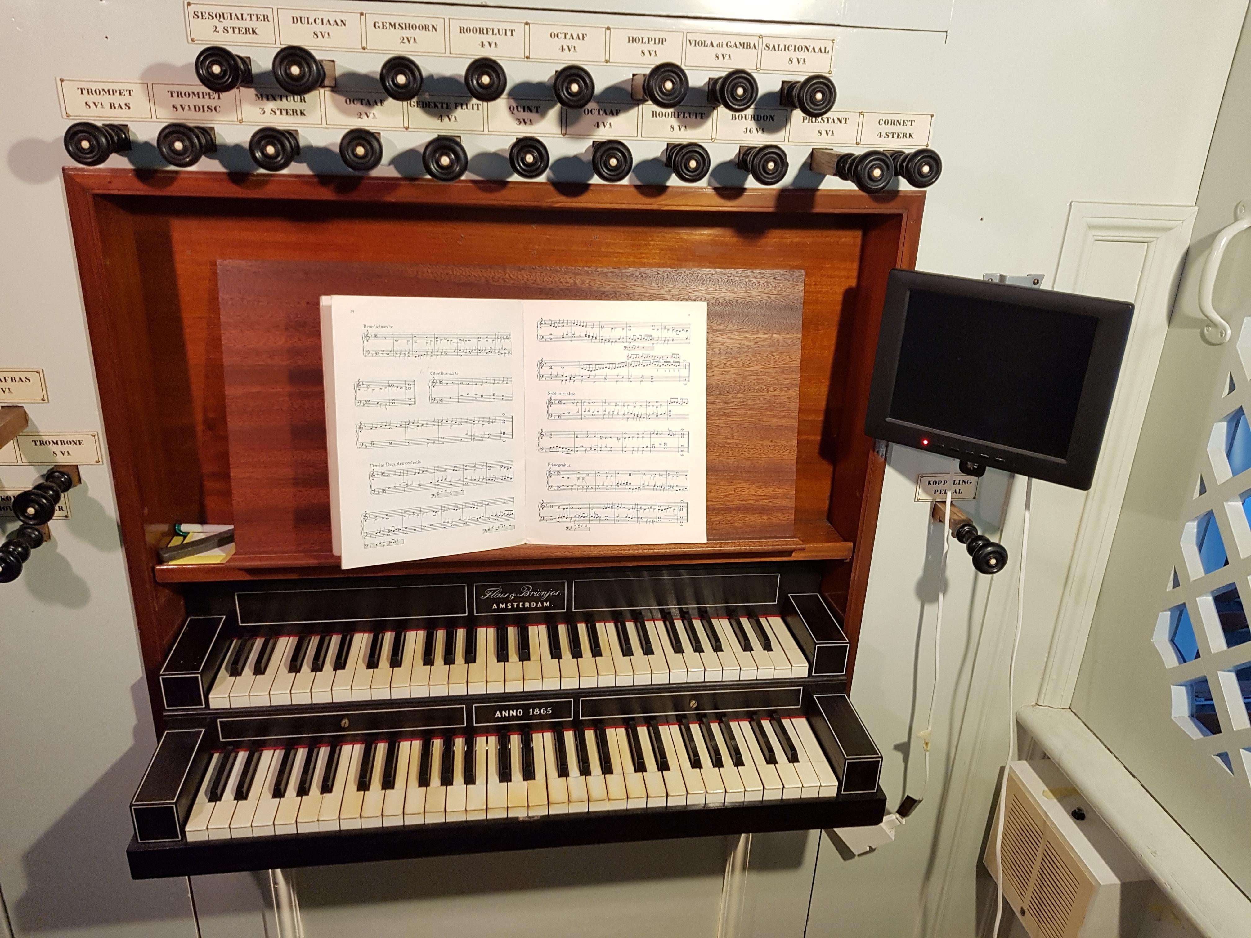 speeltafel orgel Amstelkerk