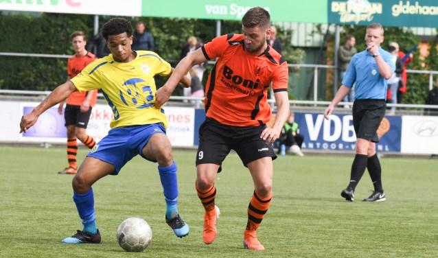 Frank Heus was goed op dreef tegen Lisse en scoorde twee doelpunten