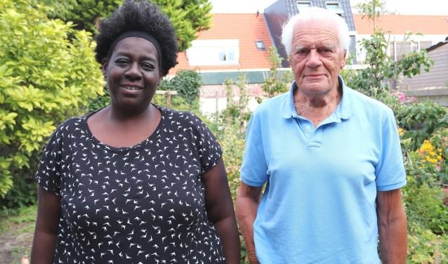 Jan Beverwijk met pleegdochter Karin.