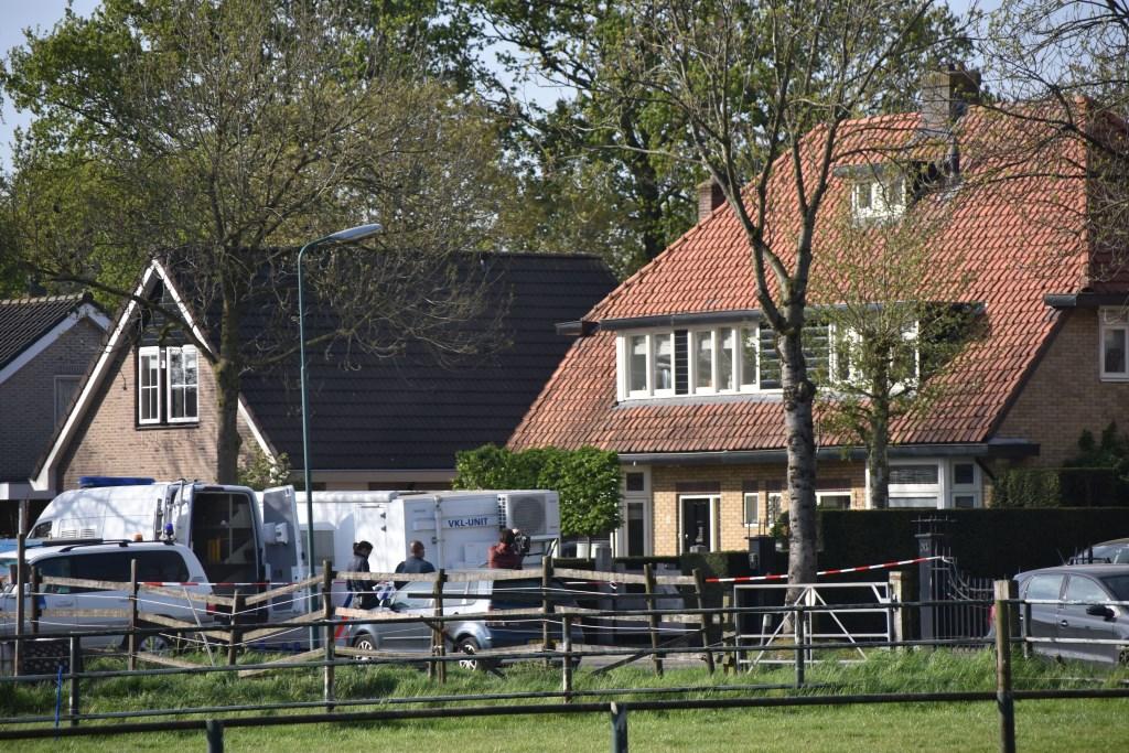 In april vorig jaar verrichtte de politie onderzoek bij de woning aan de Lange Brinkweg.