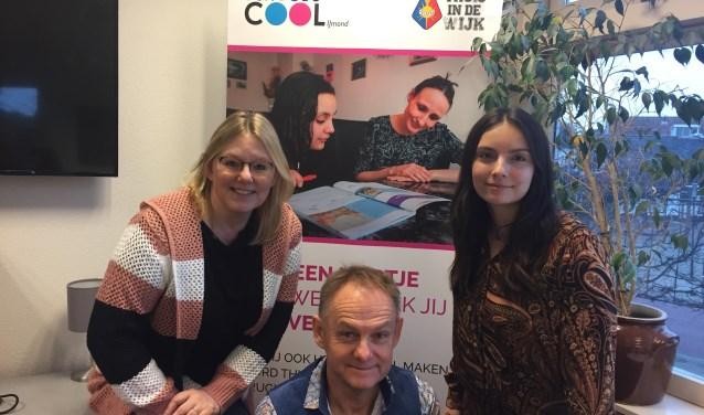 Celeste Villar, Inge Cornelisse en GertJan Huijbens coördineren School's Cool IJmond.