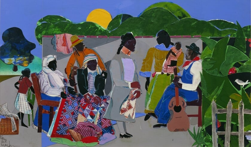 Binnenkort te zien in KAdE: 'Maquette for Quilting Time' (1985) van Romare Bearden.