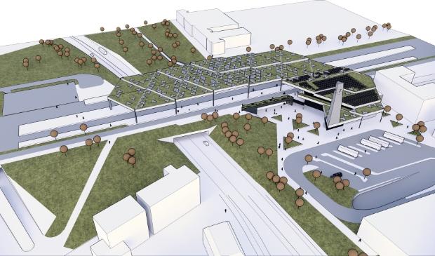 De doorfietsroute bij station Ede-Wageningen is een van de vele projecten waar de gemeente Ede 11 mei een presentatie over geeft.