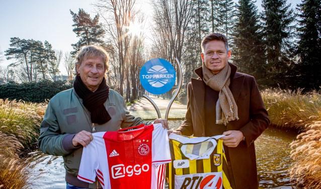 Piet de Wit (links) en Hans van Arum (rechts) zorgen, samen met de rest van de organisatie, voor een puik deelnemersveld van het TopParken Tournament U14.