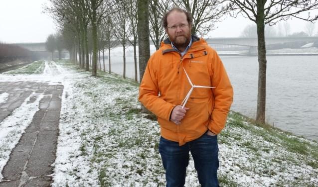 Ruben Berendts, de exploitant van Windpark Goyerbrug