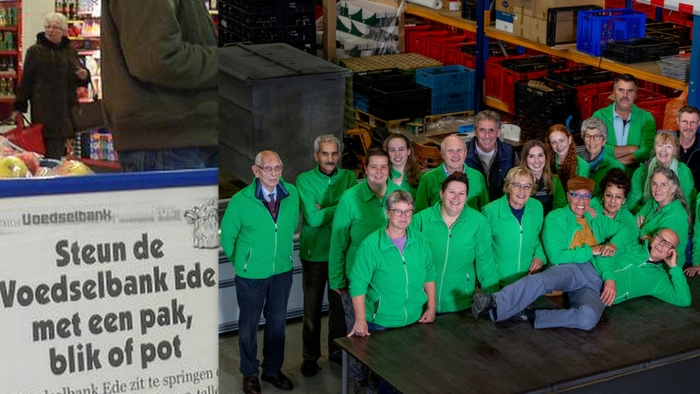 enkele vrijwilligers van Voedselbank Ede