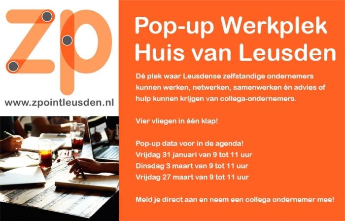 Pop up werkplek in Huis van Leusden ZPoint Leusden © BDU media
