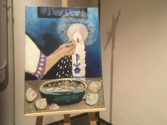 Het sacrament van de doop geschilderd door Ruth Jütte GH © BDU media