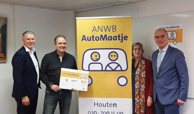 Leo Bekker, Paul de Kruijf (initiatiefnemer), Willy Lageveen en Kees van Dalen.