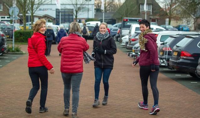 De Nieuwjaarswandeling zaterdag in Kootwijkerbroek.