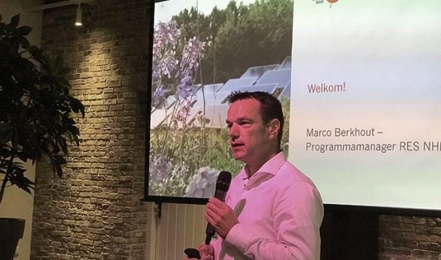 Marco Berkhout is programmamanager voor de Energieregio Noord-Holland Zuid.