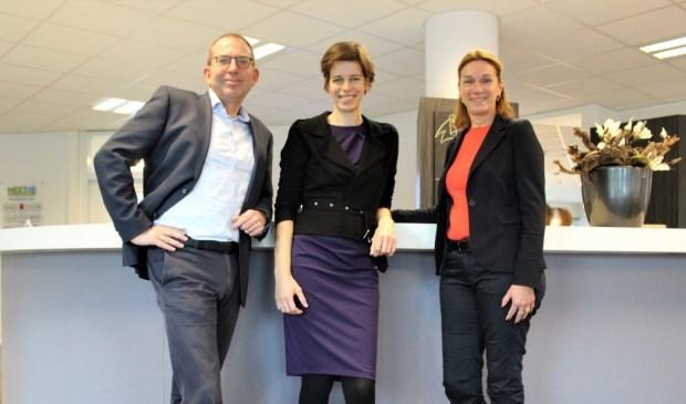 Edward van der Meijden, Adrienne Vertooren en Ingrid Cantrijn.