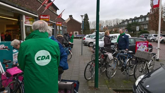 CDA-ers gaan in gesprek met winkelend publiek