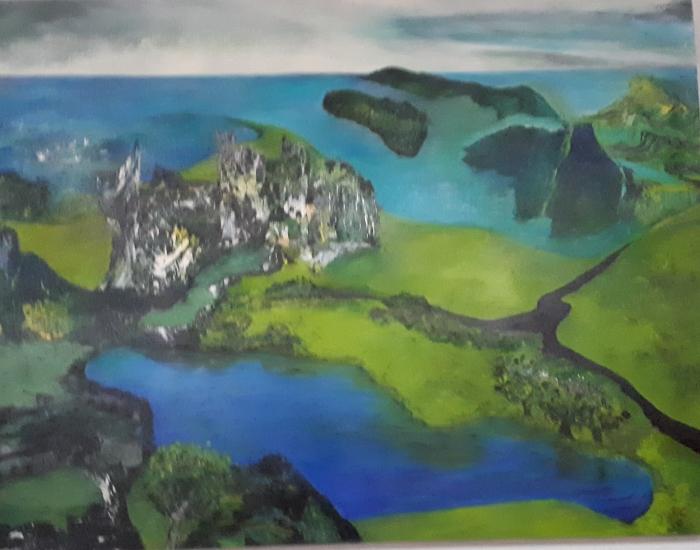 Schilderij 'Kloosterruïne'