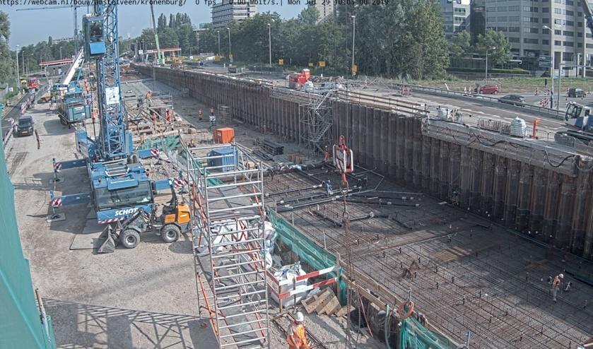 In juli door webcam gemaakte foto bij Kronenburg.