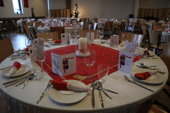 In de Rabozaal van Het Westhoffhuis werd het diner geserveerd.
