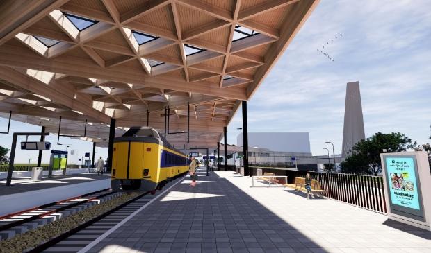 <p>Een impressie van het nieuwe station Ede-Wageningen.</p>