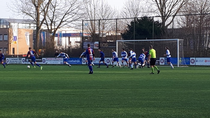 Een spelmoment FC Abcoude-Sv Ouderkerk