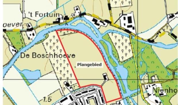 <p>Het plangebied van Project Hoenderik</p>