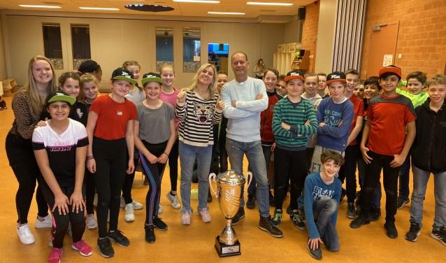 Zapp-sport in de klas bij groep 8a van de Zonnewijzer