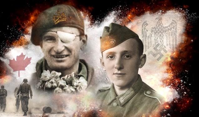 Léo Major (links) en Hans Kürten vertellen hun aangrijpende oorlogservaringen.