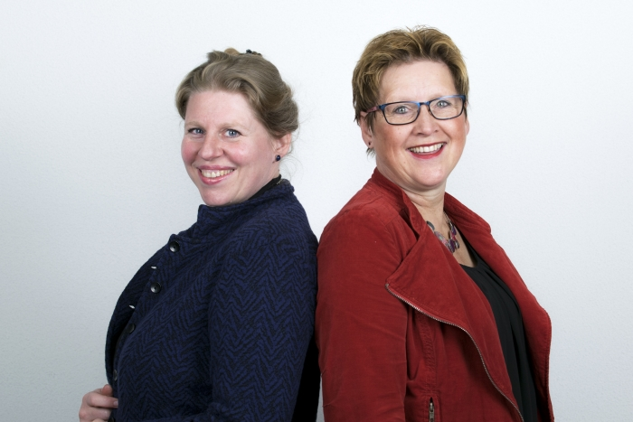 Dr. Fabienne Naber (neurobioloog) en Colette de Bruin (grondlegger van de Geef me de 5-methodiek)