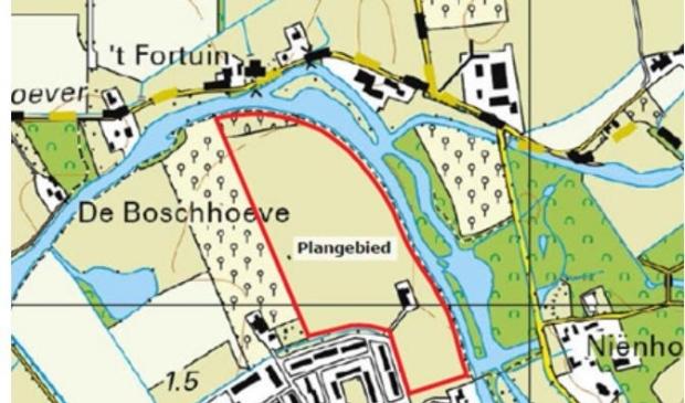 <p>Plangebied plan Hoenderik</p>