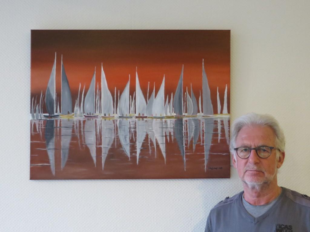 Sjaak bij een van zijn werken. Eline Lohman © BDU media
