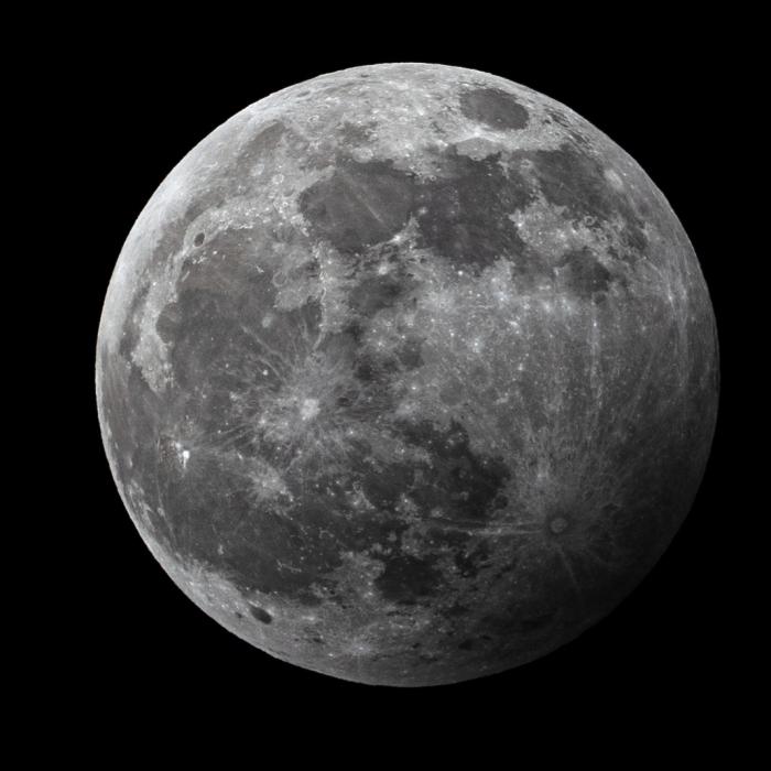Gedeeltelijke maansverduistering.