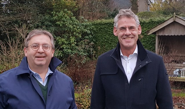 De twee nieuwe wethouders van Scherpenzeel: Gerard van Deelen en Izaäk van Ekeren.