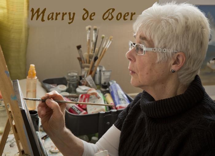 de schilderes aan het werk Piet de Boer © BDU media