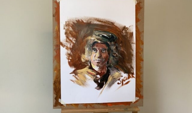 Een zelfportret dat Rob maakte in de eerste aflevering. Project Rembrandt © BDU media