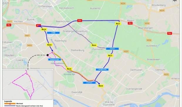 Groot onderhoud N229 tussen Werkhoven en Cothen Provincie Utrecht © BDU media