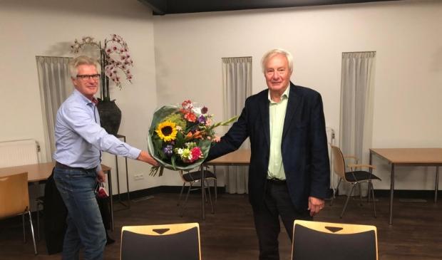 <p>Tijdens de jaarlijkse algemene ledenvergadering van de CDA afdeling Baarn afgelopen dinsdag is afscheid genomen van voorzitter Bas van den Boom (rechts). &nbsp;</p>