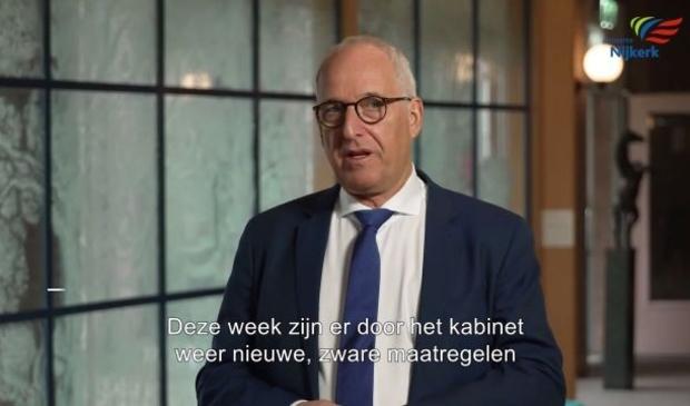 <p>,,Samen moeten we ervoor gaan&#39;&#39;, aldus burgemeester Renkema in zijn video-oproep</p>