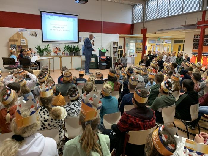 Wethouder Marchal opent de afvalvrije school Jan Heijman © BDU media