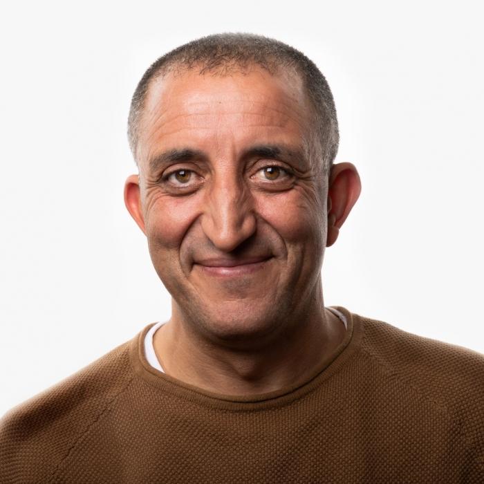 Portret van Allal Ennahachi.
