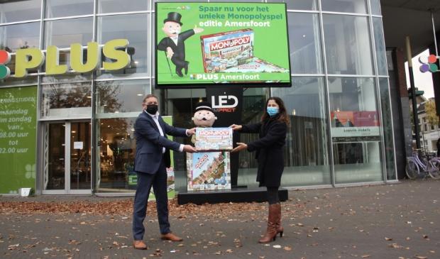 Ook de PLUS is te koop in het Monopolyspel Amersfoort.
