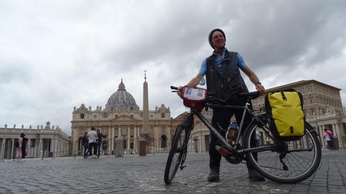 Paul Jacobs aankomst in Rome