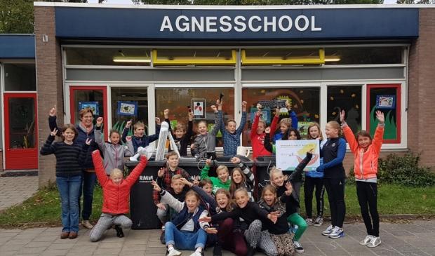 De Agnesschool uit IJsselstein nam onlangs de hoofdprijs in ontvangst