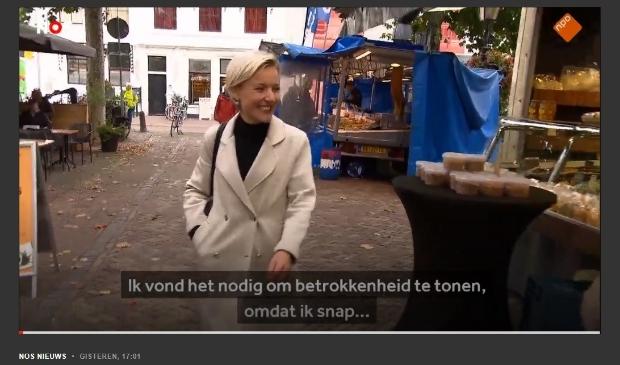 <p>Screenshot van burgemeester Meerts bij NOS</p>