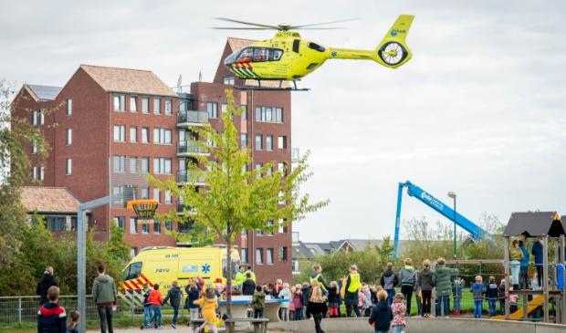 <p>Traumahelikopter landt bij Castellum</p>