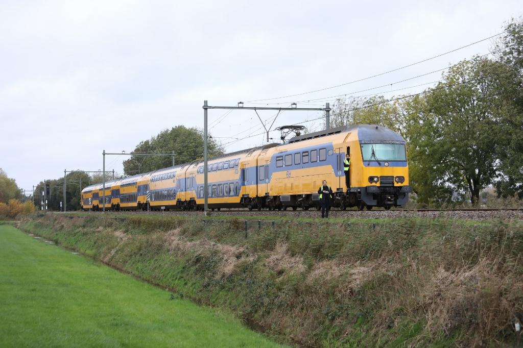 <p>E&eacute;n van de stilstaande treinen.</p>