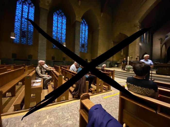 kruis door koorrepetitie
