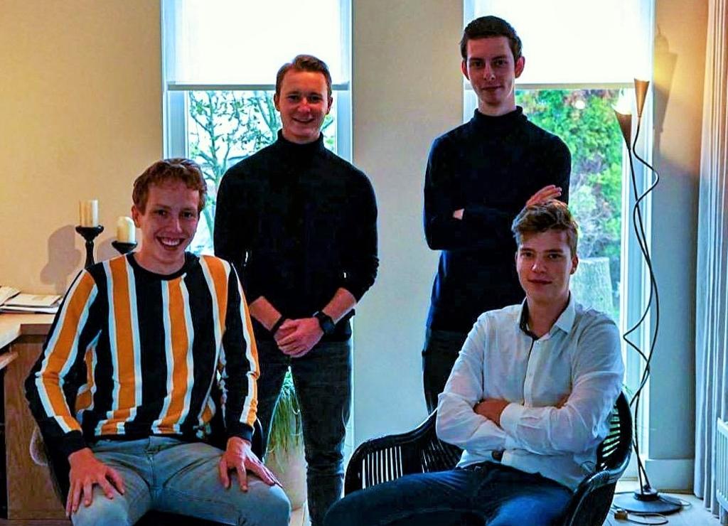 <p>Nevin van den Berg, Hidde Blom, Matthijs van Wijngaarden en Jasper de Boer.</p>