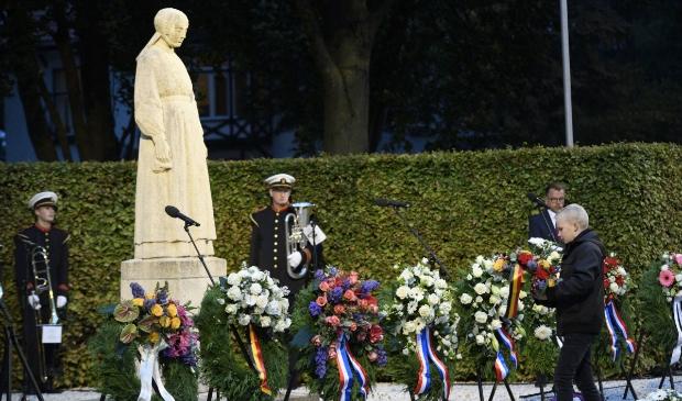 <p>Herdenking van de Puttense razzia in oktober vorig jaar.</p>