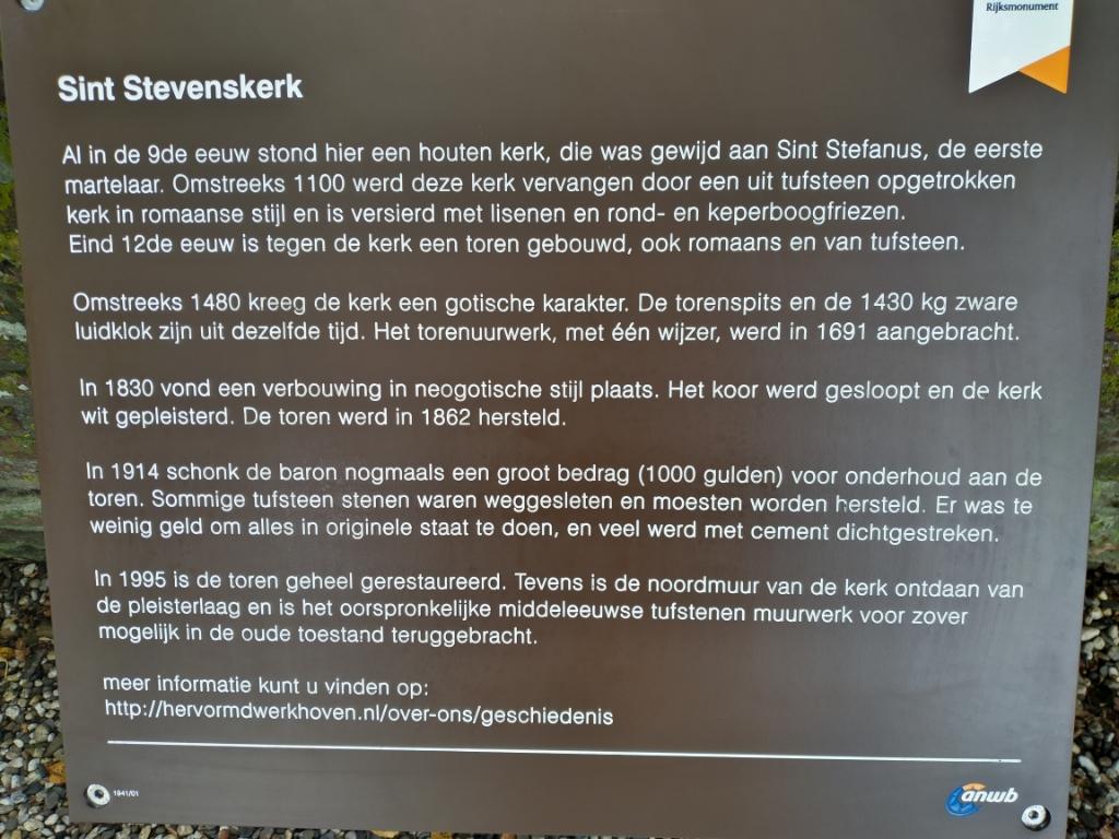 Het informatiebord van de Stevenskerk wordt vernieuwd Hervormde Gemeente Werkhoven © BDU media